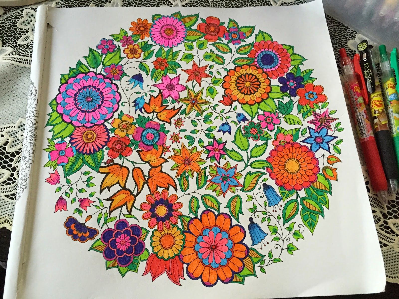Zendoodle coloring enchanting gardens - Take A Peek At This Great Artwork On Johanna Basford S Colouring Gallery