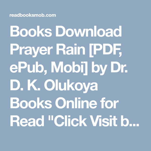 Books Download Prayer Rain [PDF, ePub, Mobi] by Dr  D  K  Olukoya