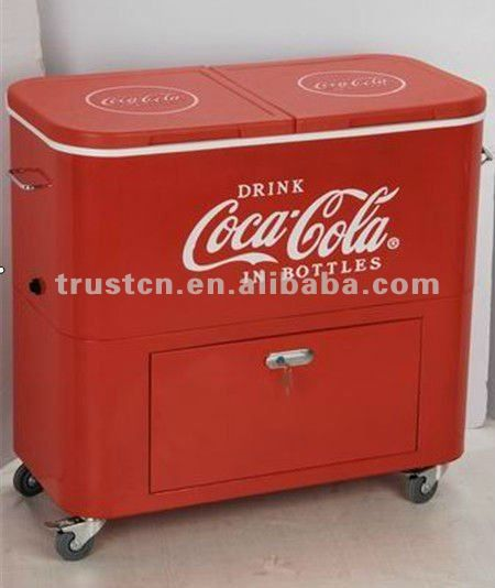 Rolling Cooler Beverage Cart