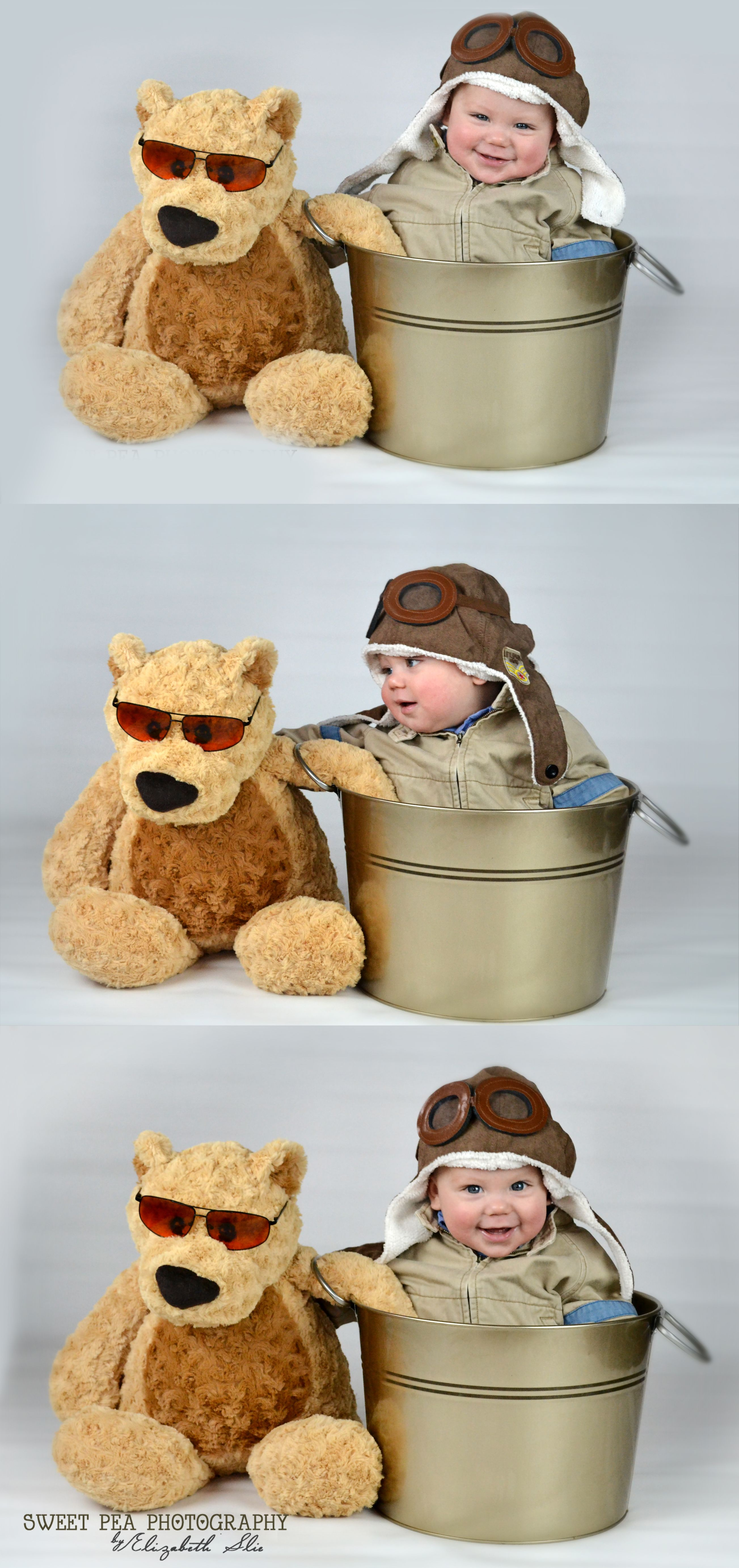 8 Month Old graphy Baby Boy Ideas Aviator and His Bear