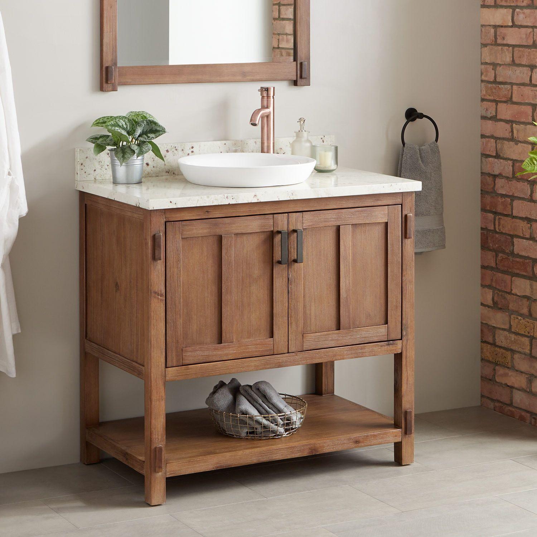 36 Morris Console Vanity Semi Recessed Sink Semi Recessed Sink