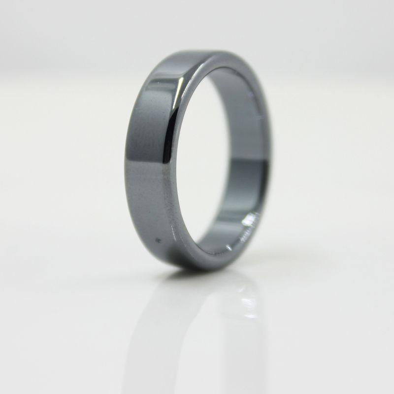 Fashion Jewelry Grade AAA Quality smooth 6 mm Width Flat Hematite