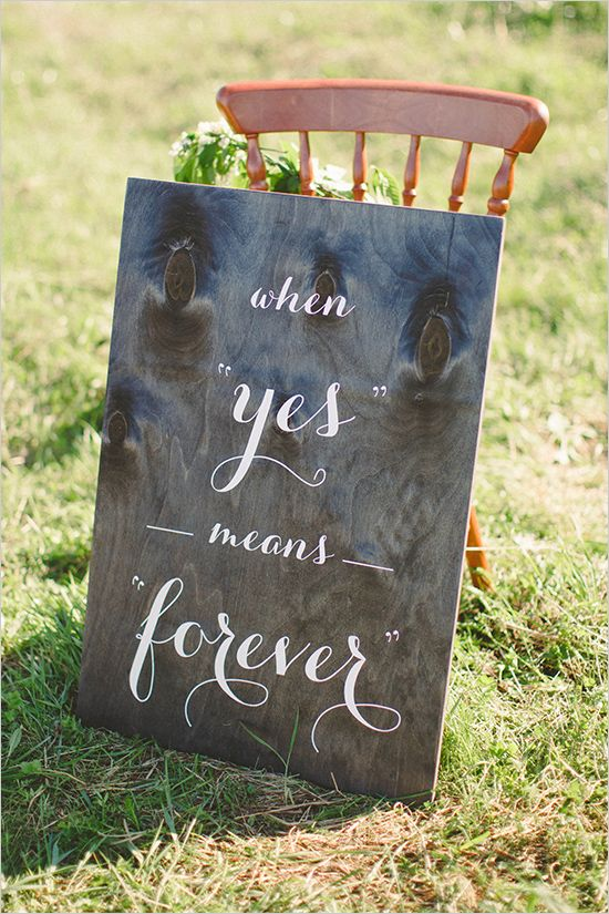 9cc2ed45f011e Sweet Love Wedding Inspiration | Wedding Signs | Rustic wedding ...