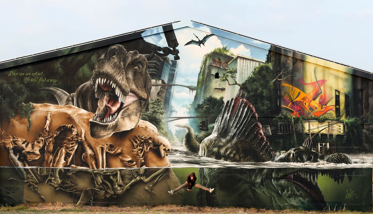 The jurassic park wall by madc jurassic park extinct and wall the jurassic park wall by madc amipublicfo Image collections