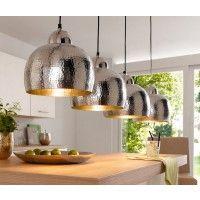 Pendellampe Deckenleuchte Im Hammerschlag Design Alu Silberfarben Verschonern Sie Ihre K Wohnzimmerlampe Lampen Wohnzimmer Esszimmer Beleuchtung