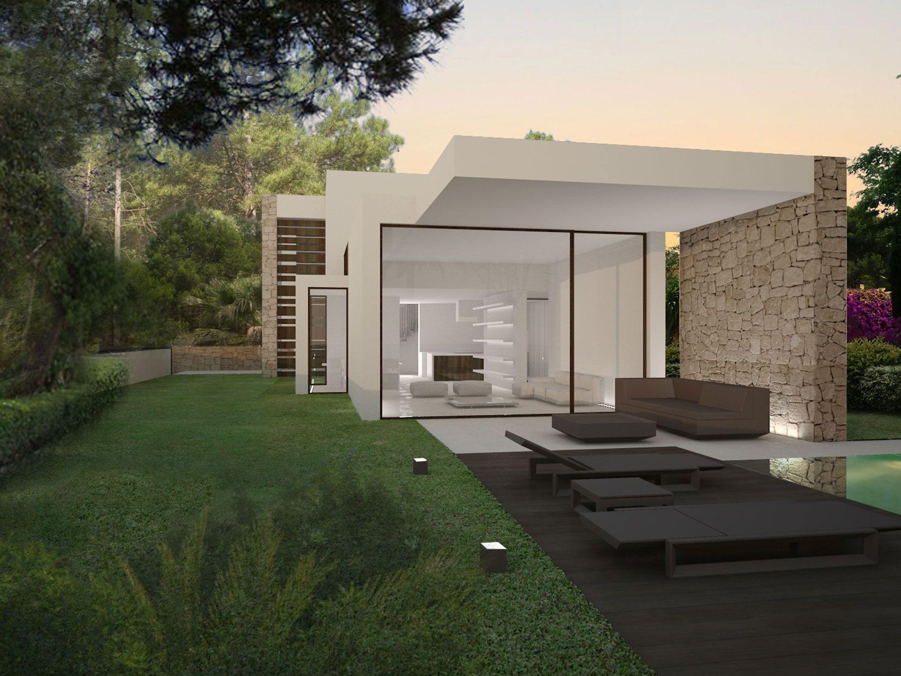 This House Is Located On A Narrowly Long Marked Plot In Moraira