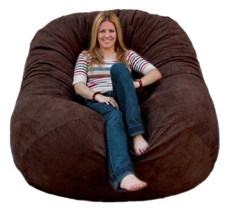 Cozy Sack 6 Feet Bean Bag Chair Large Chocolate Beanbag Beanbagchair Chair The Cozy Sack Foam Chair Provides The Most Comfort For Your Home