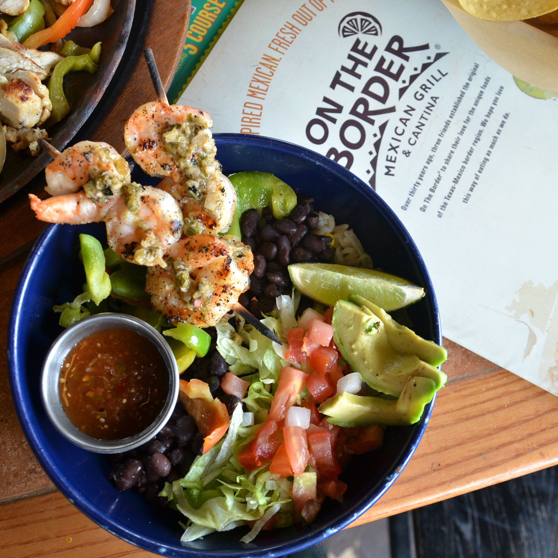 Grilled Shrimp Fresh Veggies And Delicious Rice Are Just Part Of What Make Our Border Bowls So Mouthwatering At On Th Mexican Food Recipes Food Fresh Veggies