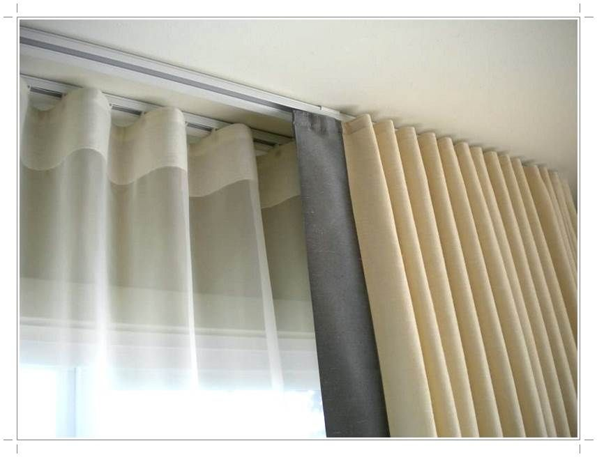 Ceiling Mounted Curtain Track Window Coverings