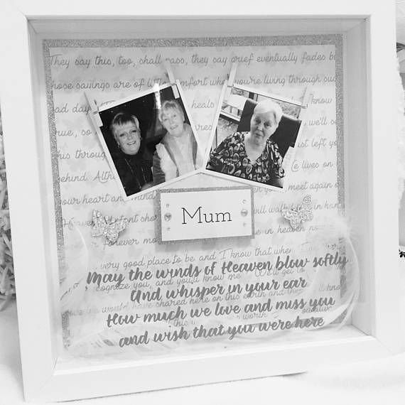 Beautiful memory frame to remember someone loved and lost. This can ...