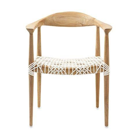 Safavieh Bandelier Reclaimed Teak Arm Chair With Light Oak
