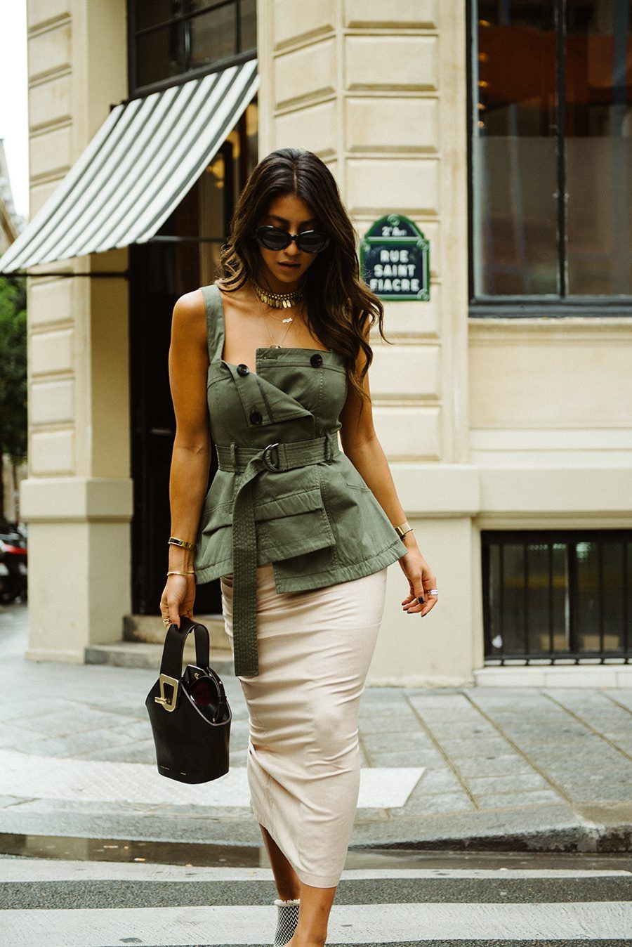 018d8c413d90 marissa web army top fwrd revolve lali skirt mode collective shoes danse  lente bag paris cafe girl mode paris fashion week style streetstyle blogger  not ...