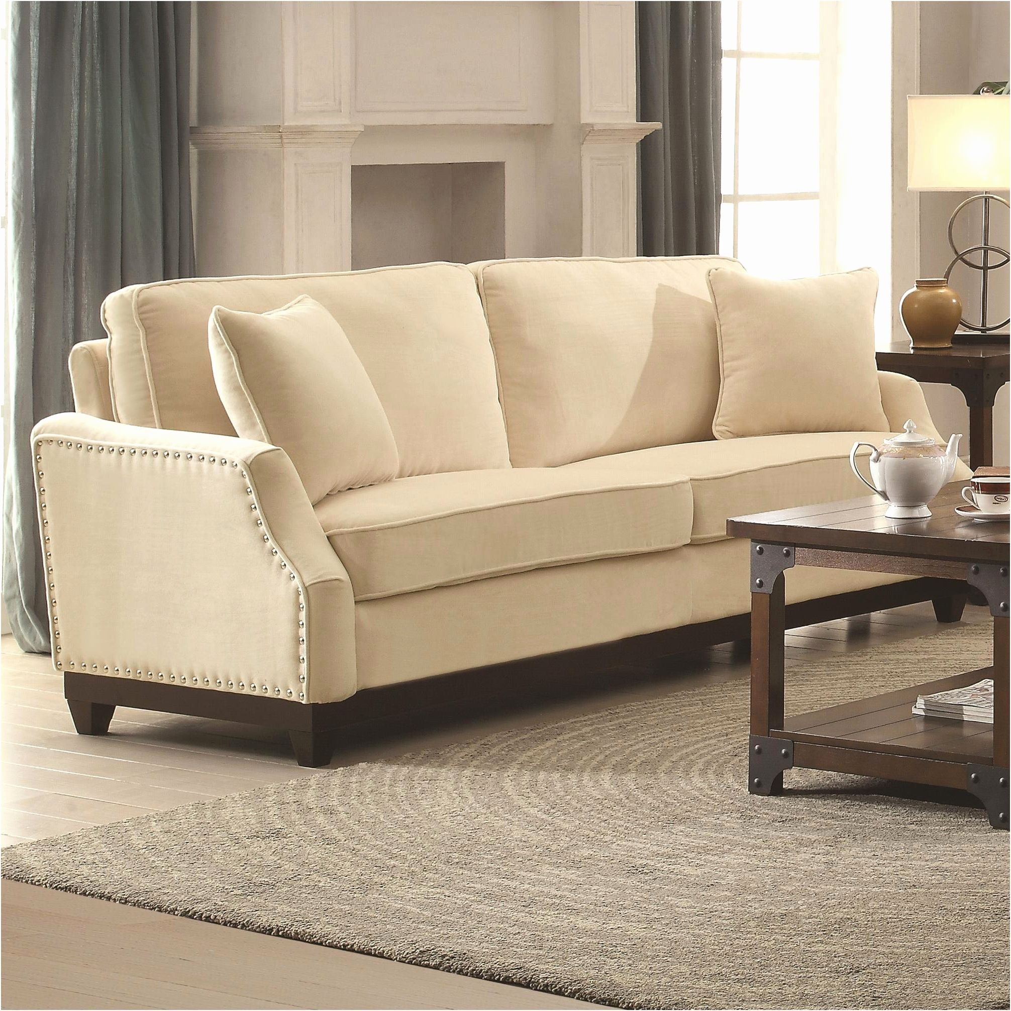 Lovely Cream Leather Sofa Pictures Chair Cool Cream Leather Sofa  ~ Leather Sofa With Nailheads