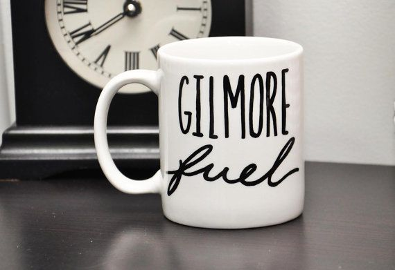 Gilmore Fuel 11oz Hand Lettered Coffee Mug by HelloAwesomeShop