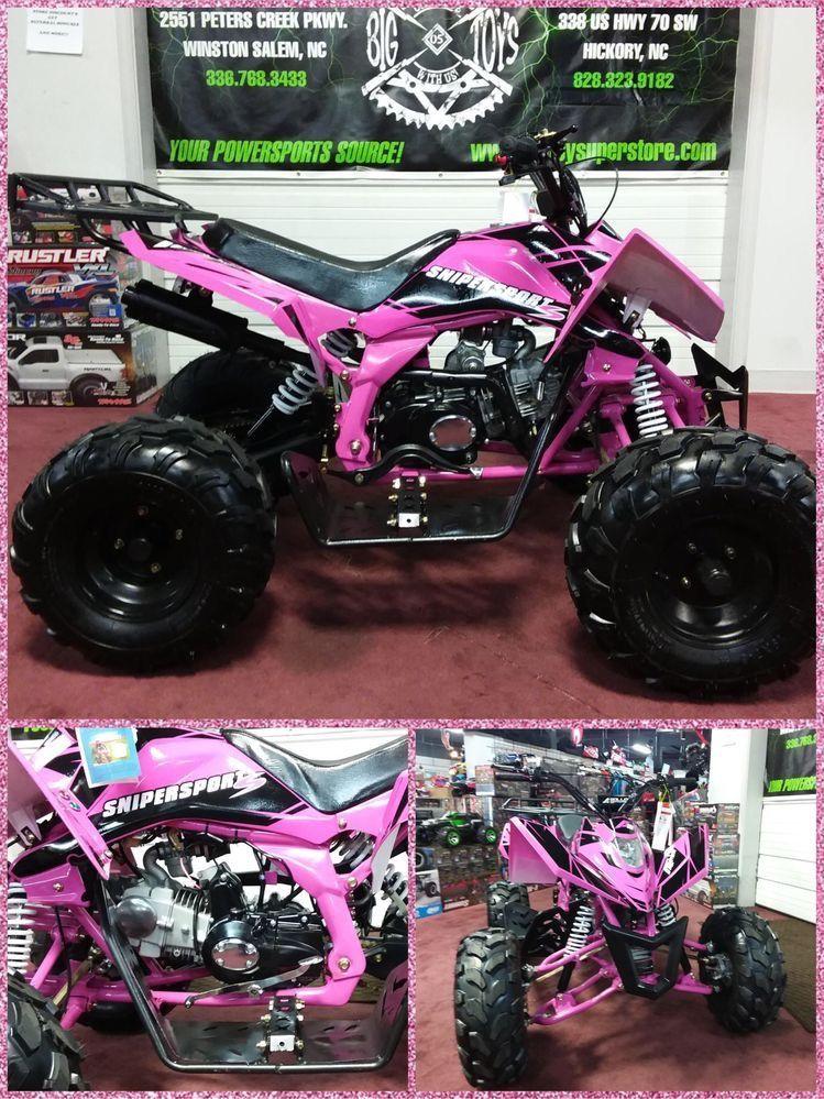 Sniper Sport (Hot Pink & Black) 125cc ATV! Four Wheeler