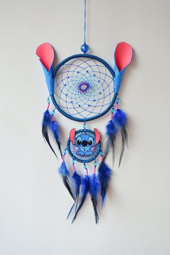 Lilo and Stitch Fan Gift – Ohana Dream Catcher Wall Hanging – Birthday Gift – Baby Nursery Room Decor
