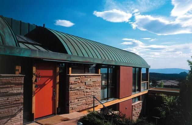Desert Home With Copper Clad Barrel Roof Desert Homes Copper Roof Quonset Homes
