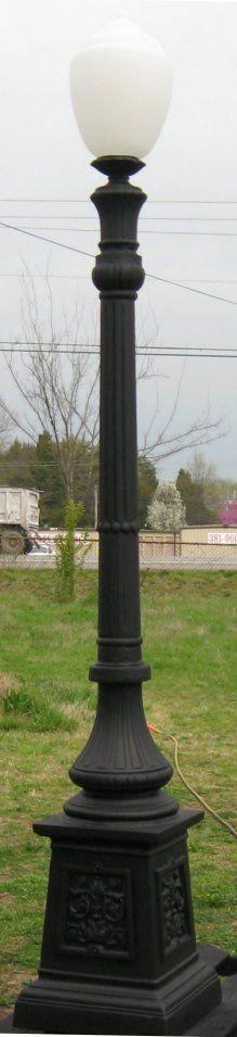 cast aluminum victorian single lamp post on urn base Model #A-1119 ...