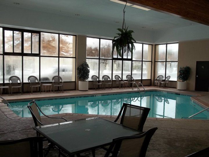 Our indoor pool! With snow outside of our Inn during the winter months, we still had a nice place to swim inside!