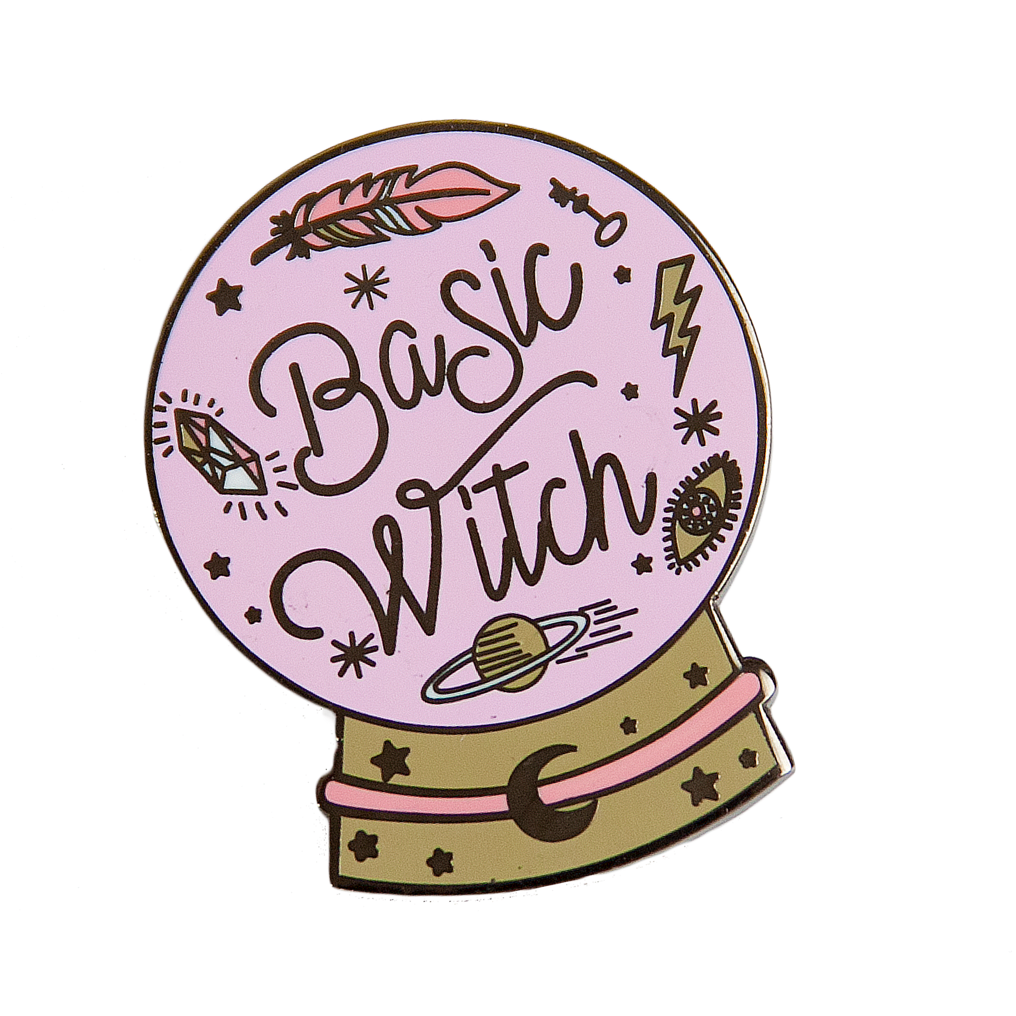 Basic Witch Crystal Ball Enamel Pin in 2019 Art I Like
