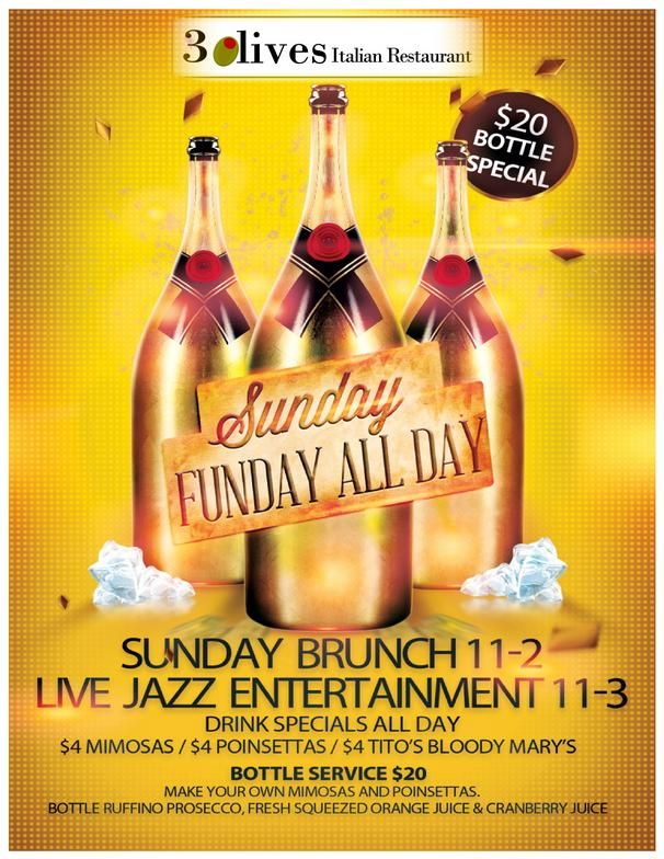 Sunday Funday Flyers Google Search Ruffino Prosecco Drink Specials Tea Bottle