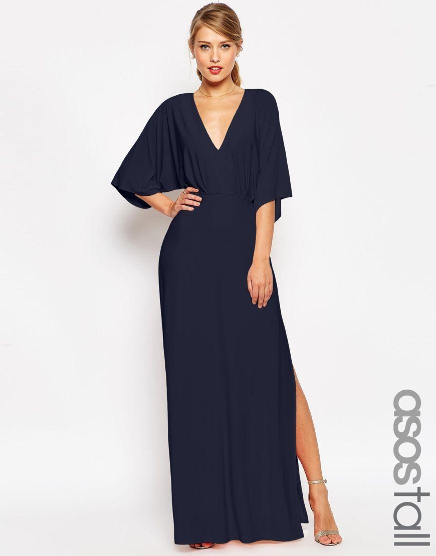 Asos tall wedding guest dresses  Image  of ASOS TALL Kimono Plunge Maxi Dress  Fashion  Pinterest