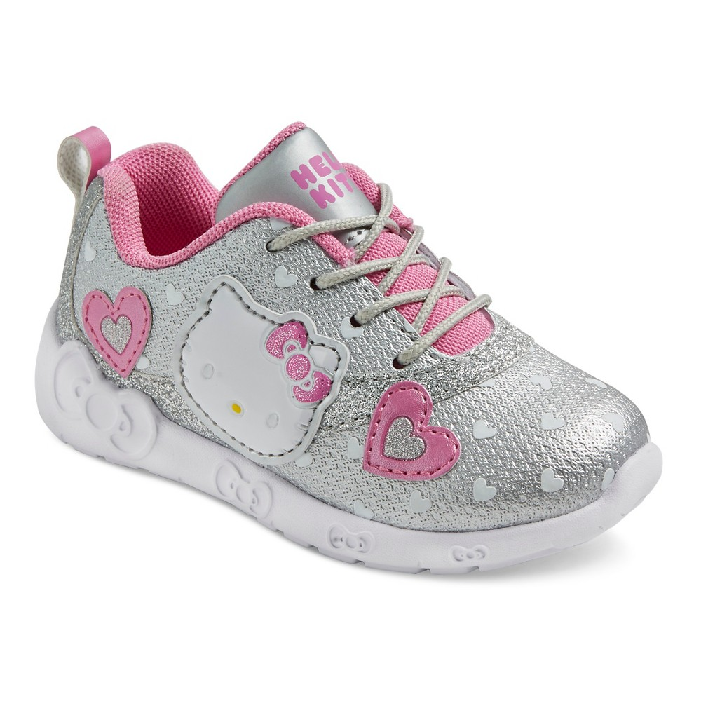 44fad7dd93973 Toddler Girls' Hello Kitty Athletic Sneakers - Silver 8 | Products ...