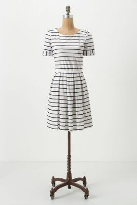 scalloped stripes dress #anthropologie