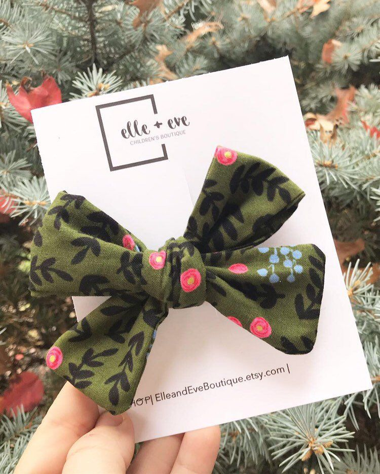 headband cotton bow newborn bows winter bows baby bows baby girl stocking stuffer toddler hair clip holiday bow christmas bow large bow