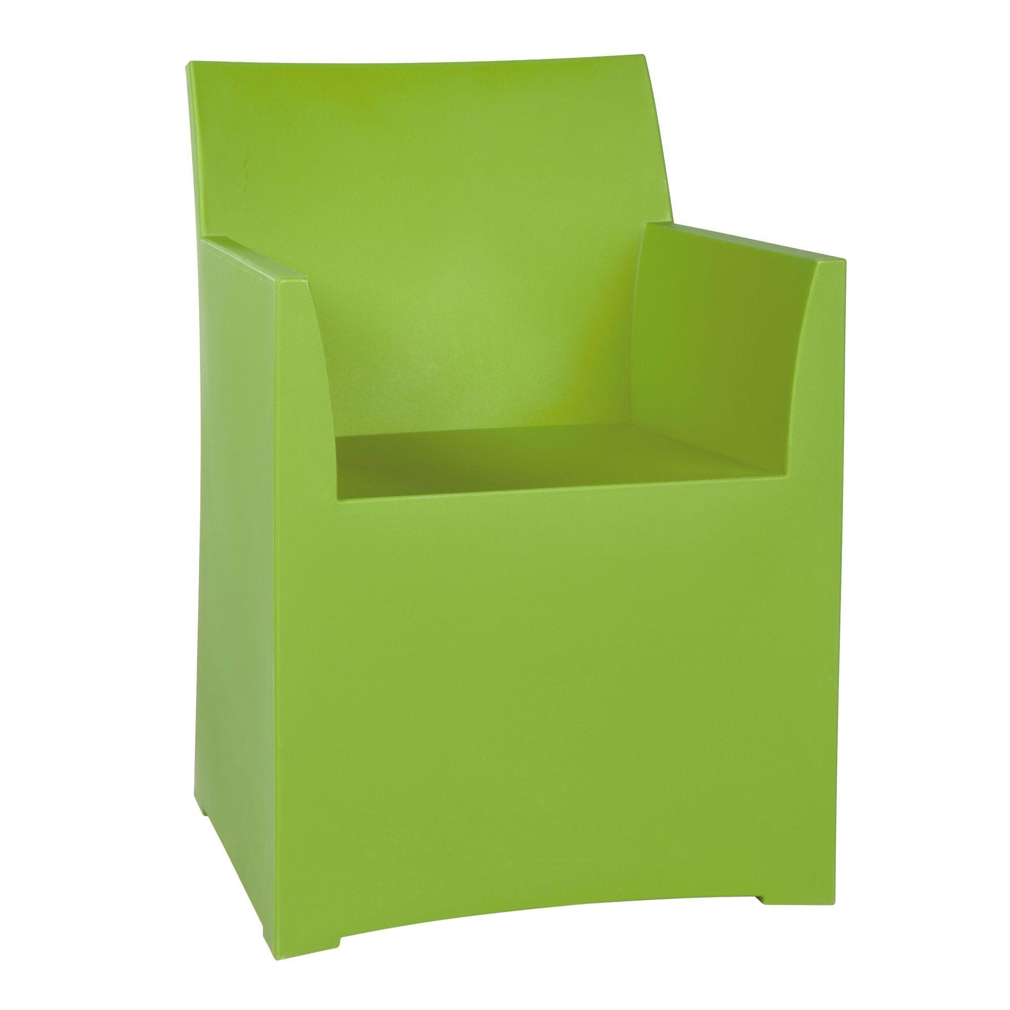 Fauteuil d extérieur en résine vert Vert Naly Les fauteuils de