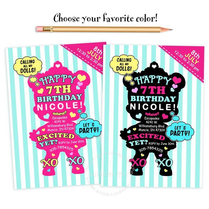 LOL SURPRISE Invitation Surprise Doll Party Lol Birthday