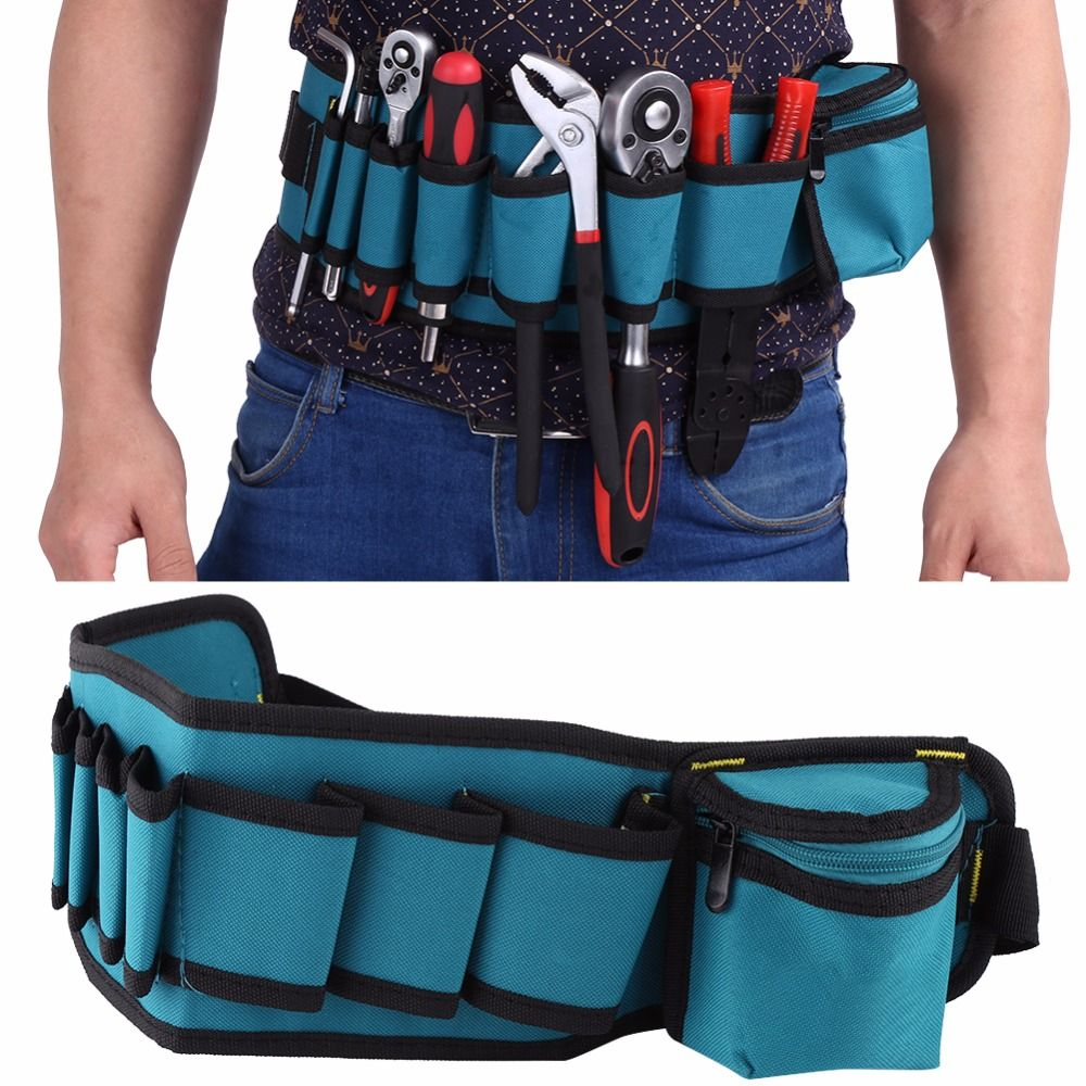 Tool Bags Electricians Adjustable Waist Pocket Belt Tool Bag Pouch Hammers Pliers Screwdriver Holder Storage Hand Repair Tool Organizer Attractive Designs;