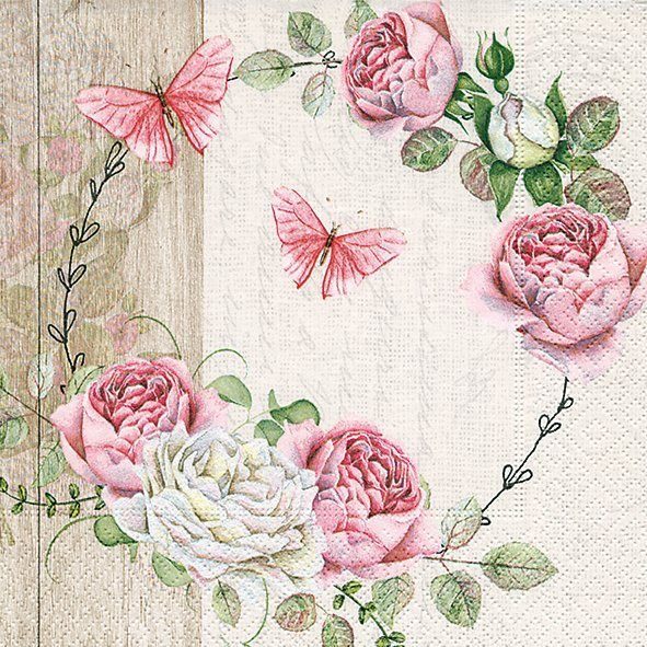 "Serviette ""Rosekranz"" 33 cm x 33 cm"