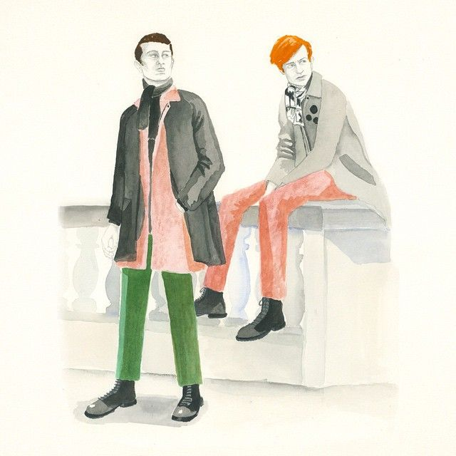 """Clara Lacy """"Daily Doodles for @port_magazine  featuring new collection by #LouDalton"""""""