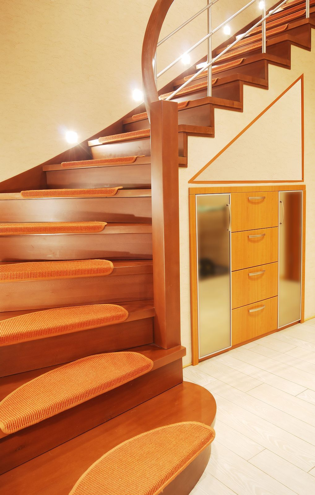 Retro Staircase By Stair Parts.com.
