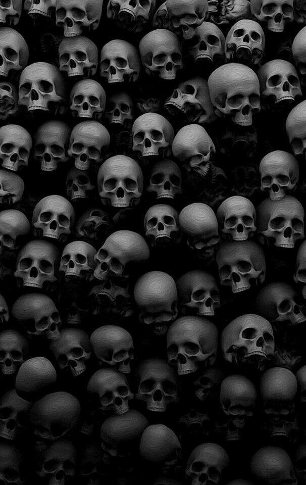 Black and white skulls wallpaper skeleton clowns guns - Scary skull backgrounds ...