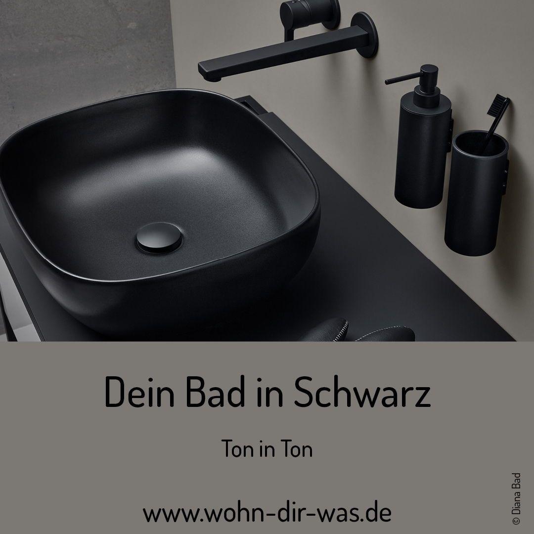 Badezimmer Edel In Schwarz In 2020 Waschbecken Design Waschbecken Badezimmer