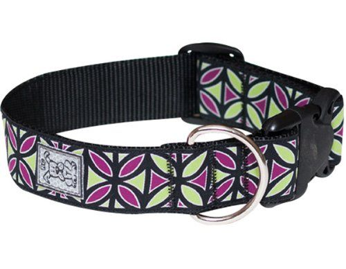 Rc Pet Products 112inch Wide Dog Clip Collar Medium Berry Mojito