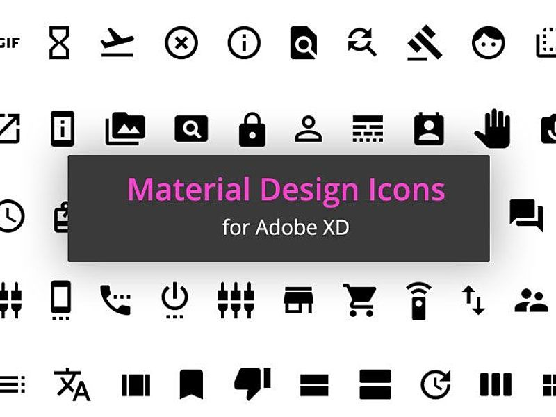 1000 Free Material Icons For Adobe Xd In 2020 With Images