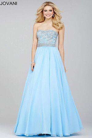 Light Blue A-Line Prom Dress 33558 | Prom Dresses | Pinterest
