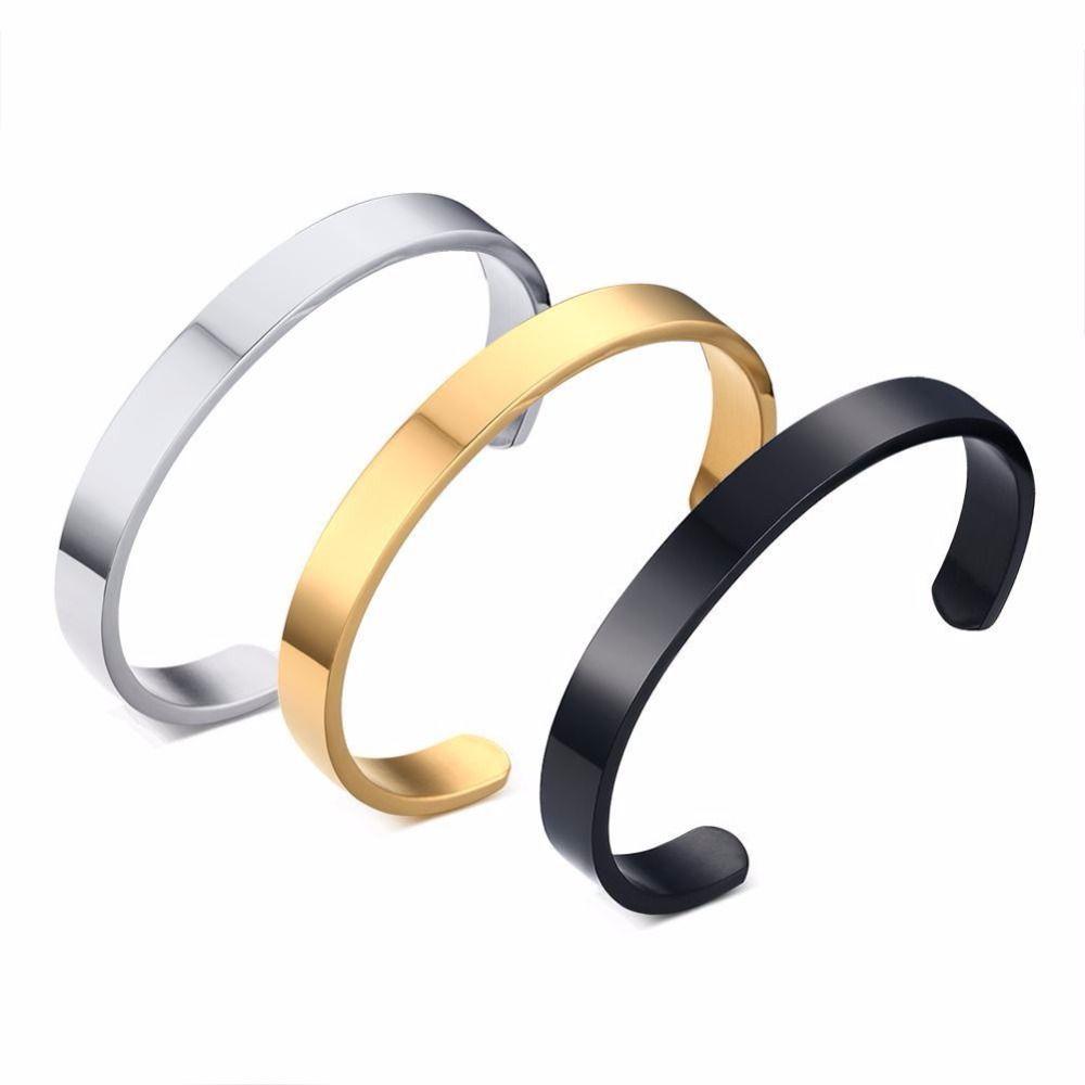Bracelets u bangles for women and men stainless fashion bracelet