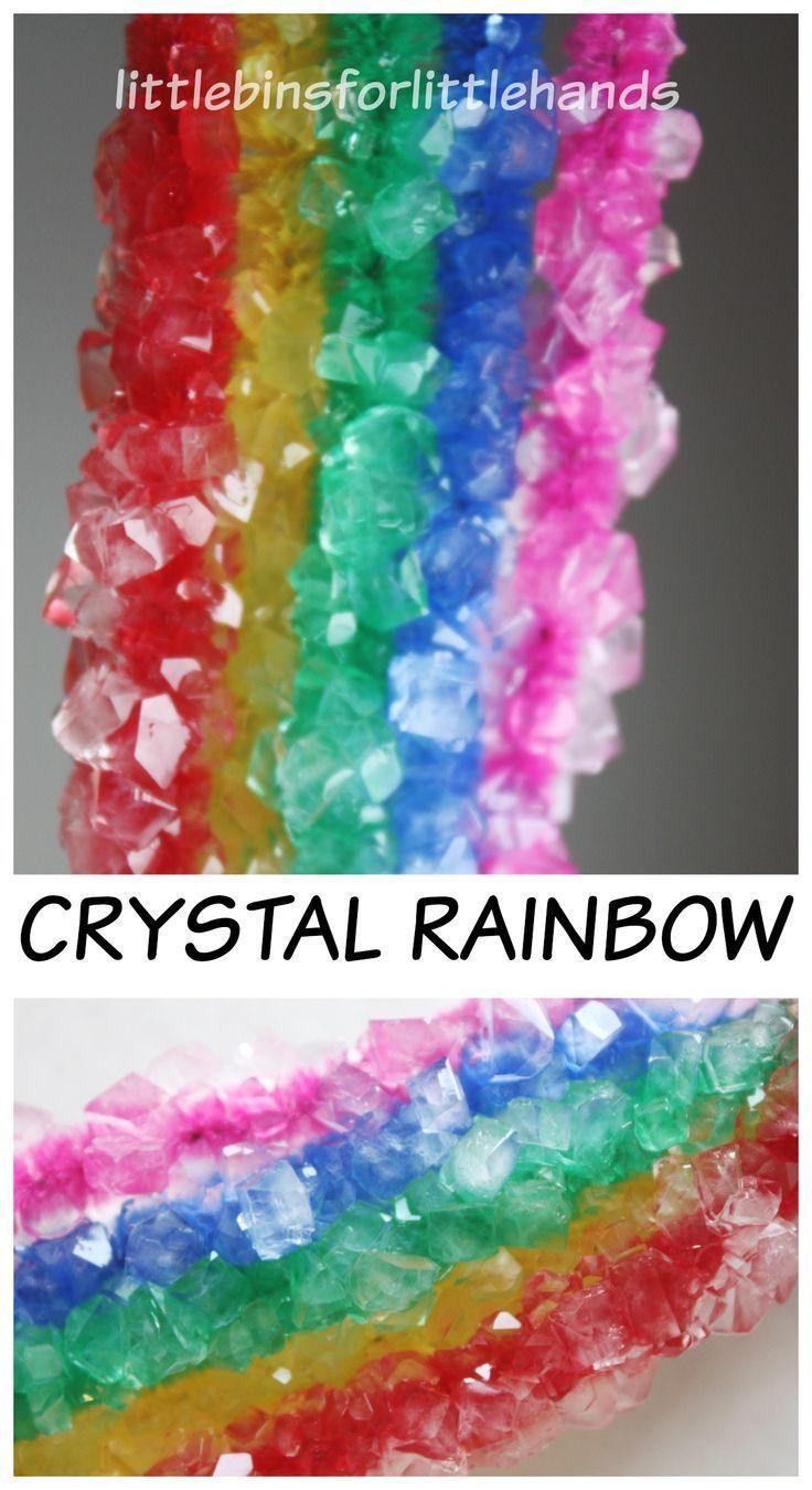 Crystal Rainbow Science Borax Crystal Growing Activity