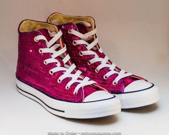 c6dfc327c77ac0 Sequin Hot Fuchsia Pink Converse All Star Hi Top by princesspumps