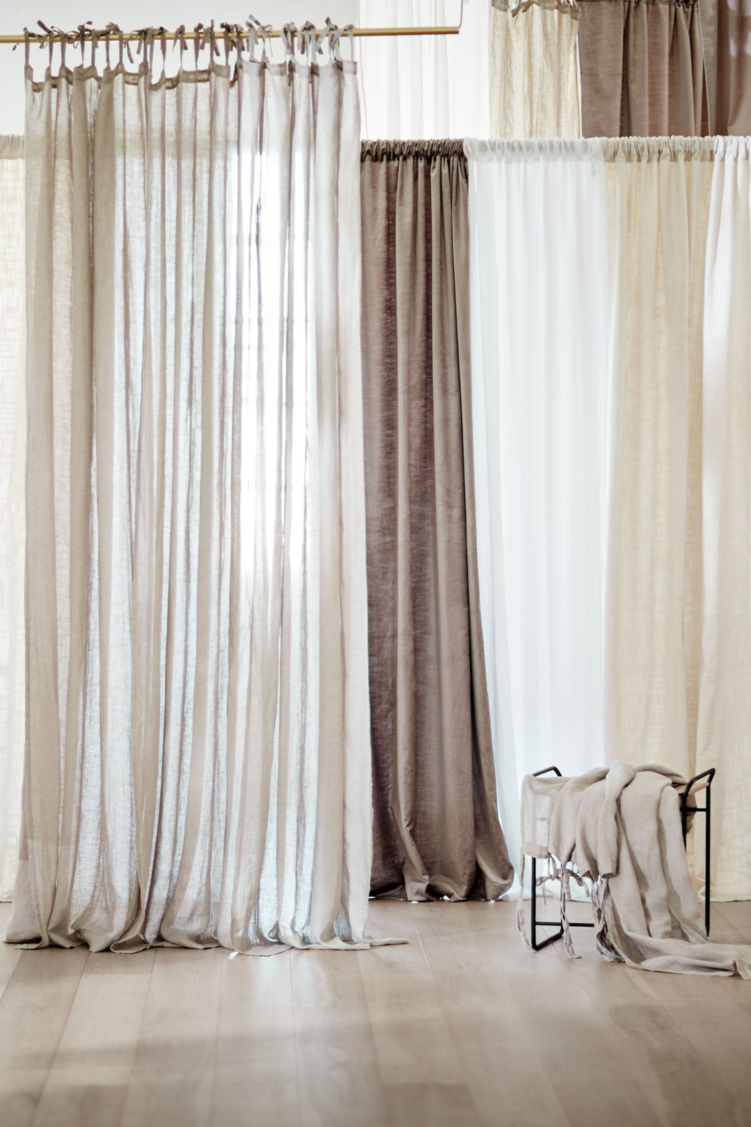 2 Pack Linen Curtain Panels In 2020 Panel Curtains Linen