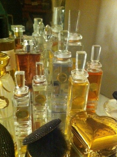 My Caron Monument bottle collection with Caron perfume decants inside~
