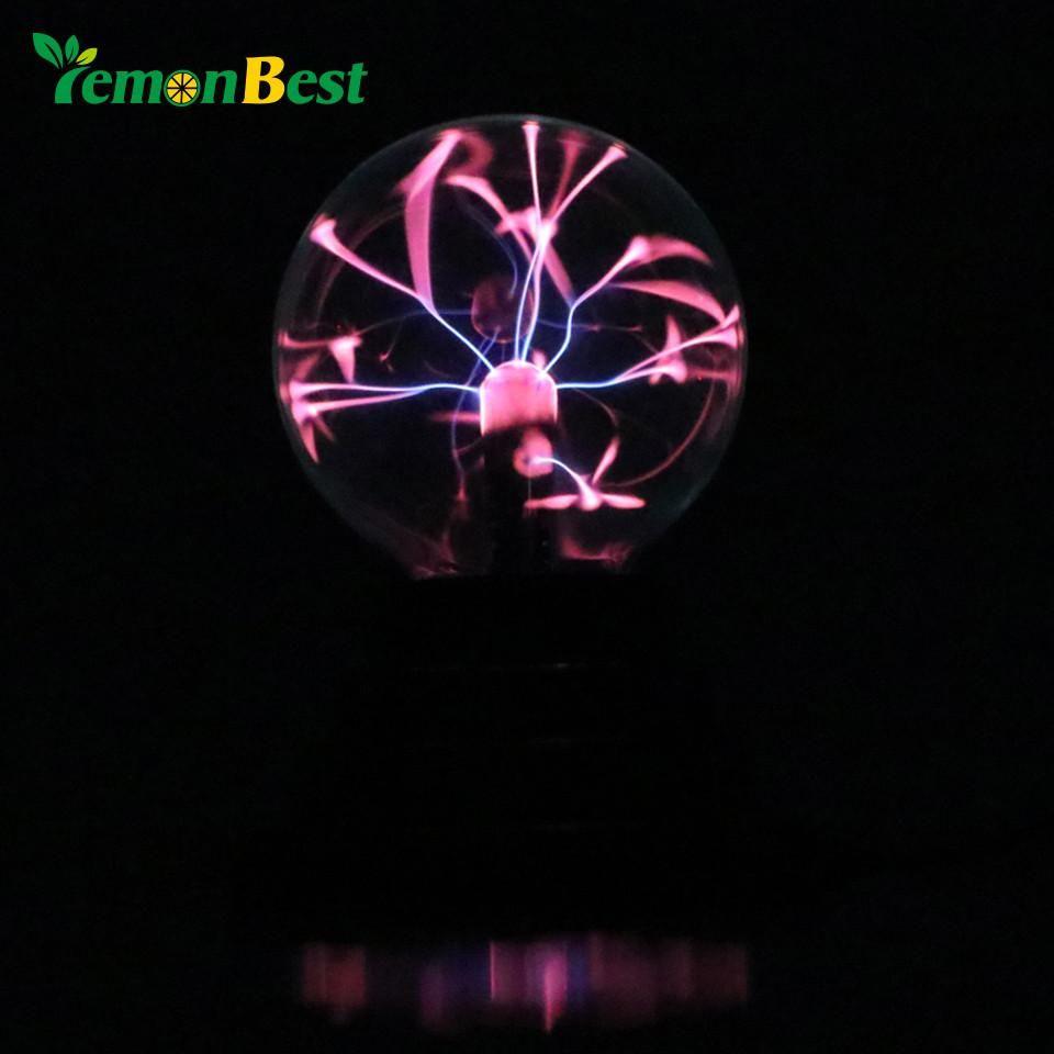 Lemonbest Magic Plasma Ball Retro Light 3 inch Kids Christmas Party Cristal Gift Room Decoration Light Lava Lamp Box Lighting
