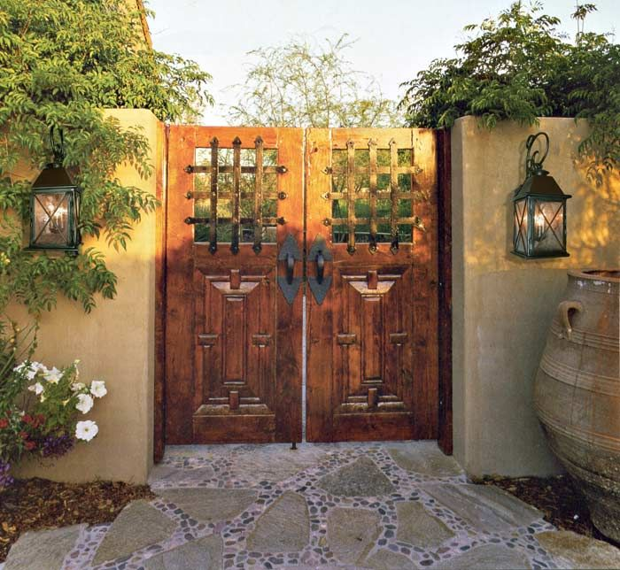 Home Design Gate Ideas: 13th Century Central Italian Gate Design From Castello