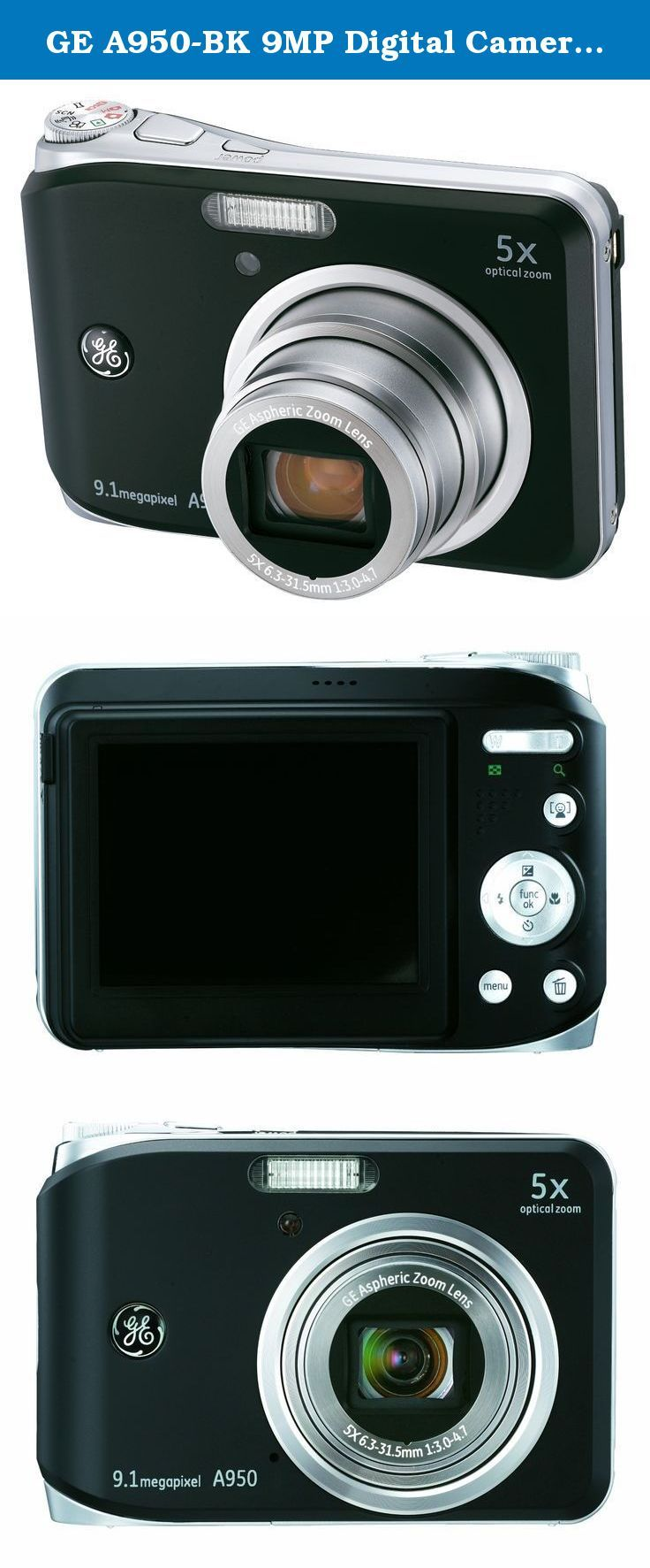 ge a950 bk 9mp digital camera with 5x optical zoom and 2 5 inch lcd rh pinterest com www Qmobile A950 A950 Glove