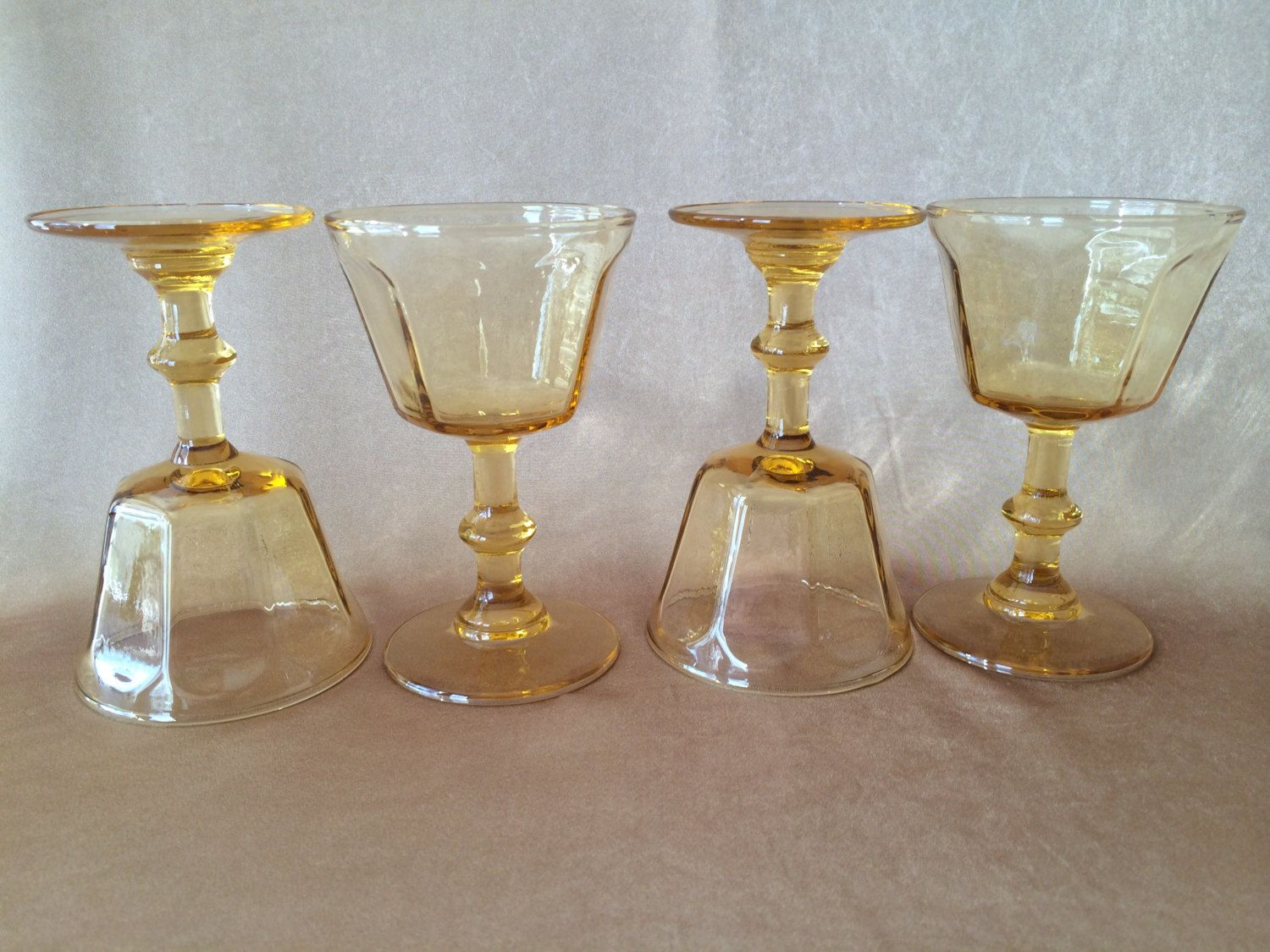 Vintage Wine Glasses, Lenox Antique Yellow, Small Wine Glass, Glamour  Barware, Vintage Hollywood, Stemmed Cordial, Mid Century Cordial