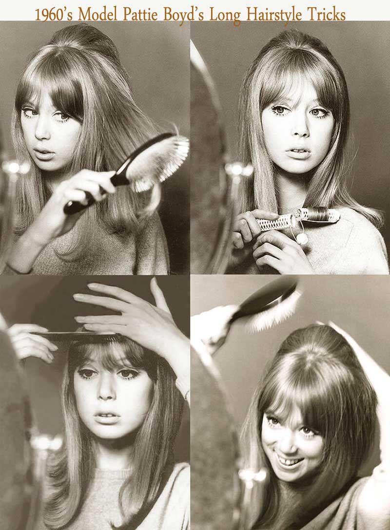 1960 S Hairstyles For Long Hair Pattie Boyd 1960s Hair 1960 Hairstyles 60s Hair